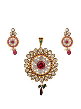 Sparkly Red Pendant Set, red