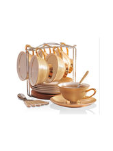 Decohome Royal Series Bone China Tea Cup And Saucer Piece Set With Spoon (RC001)