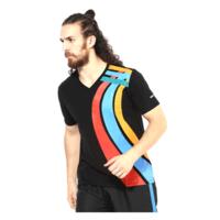 Admiral Kalos Graphic V Neck T-Shirt, s,  black