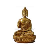 Lord Buddha Golden Antique Statue Blessing, brass