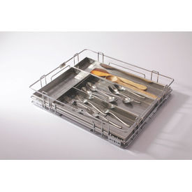 Modular Kitchen Luma Box Cutlery, home care, 15 x 20 x 4 inches, stainless steel