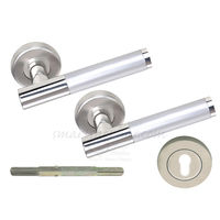 Mortise Rose Handle - Teramisin, 2 inches, nickel silver, stainless steel