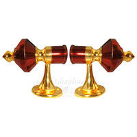 Curtain bracket - Ruby, inner dia. 28 mm, wine gold, zinc