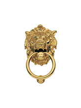 Smartshophar Door Knocker Lion Mouth Brass 6.5 Inche Gold