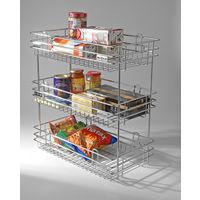 Modular Kitchen Luma Organizer 2 Shelf, home care, 15 x 20 x 18 inches, stainless steel