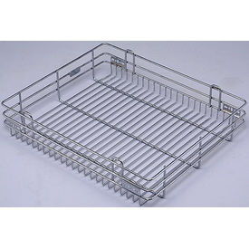 Modular Kitchen Luma Plain Basket, home care, 17 x 24 x 4 inches, stainless steel