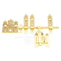 Brass Manichitratal Door Lock Aldrop - Mosque, 14 inches  rod size , gold