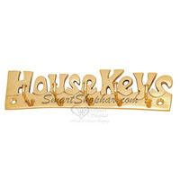 Brass Wall Hook Housekey, 5 leg, gold, brass