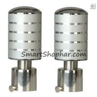 Curtain bracket Finial Demo, inner dia. 28 mm, white silver, stainless steel