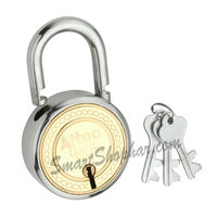 Padlock Double Lock Action 50mm, steel, medium