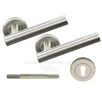 Mortise Rose Handle - Adaptor, 2 inches, nickel silver, stainless steel