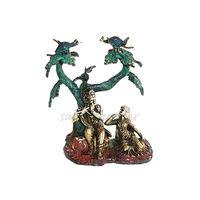 Lord Krishna Under Tree Brass Statue, brass