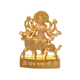 Sherawali Five Hand Statue, gold, zinc