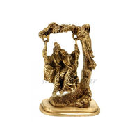 Lord Krishna Radha On Swing Brass Statue Antique, brass