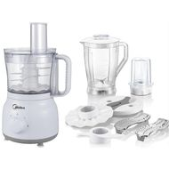 MIDEA FOOD PROCESSOR WITH BLENDER JUG AND GRINDER CUP - MJFP60D1,  White