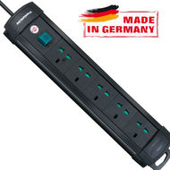 Brennenstuhl Premium-Multi-Line Extension Socket, 3 Metre Cable,  Black