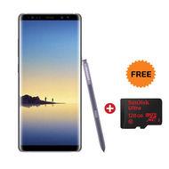 "Samsung Galaxy Note8 Smartphone (6.3"" , LTE, 6GB-64GB, Dual Lens),  Orchid Grey"