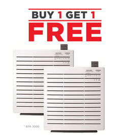 Hitachi 25M2 Air Purifier, EPA3000(Made in Japan) Buy 1 Get Another 1 FREE! !,  White