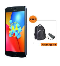 LENOVO MOTO E4 PLUS MOBILE/ 5.5  Display Screen/Android OS 7.0 Nougat/1.3 Ghz Quad Core/16GB+ 3GB RAM/13MP+ 5MP front camera/5000 mAh,  Grey