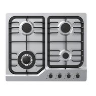 MIDEA 60 CM GAS HOB WITH SAFETY ( 60G40ME087SFT),  STAINLESS STEEL
