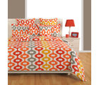Swayam Orange Single Bed Sheet With Pillow Covers