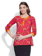 Very Me Cotton Printed Kurti (W-CPK-1808), 38, pink