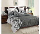 Swayam Grey Double Bed Sheet With Pillow Covers