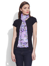 Very Me Cotton Printed Voile Scarf (W-VPS-2104), purple