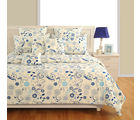 Swayam Blue Double Bed Sheet With Pillow Covers