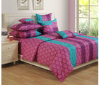 Swayam Purple Double Bed Sheet With Pillow Covers