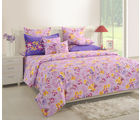 Swayam Magenta Double Bed Sheet With Pillow Covers