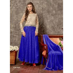 Kmozi Amazing Designer Long Anarkali Suits, blue