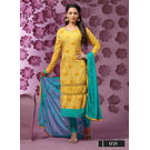 Kmozi Latest New Designer Embroidery Work Dress Material, yellow