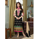 Kmozi Latest Cotton Salwar Kameez, black and cream