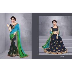 Kmozi New Fancy Designer Saree Online, multicolor