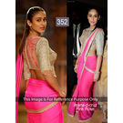 Kmozi Rose Bollywood Fancy Designer Saree, pink