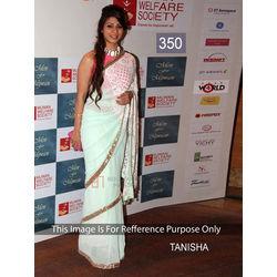 Kmozi Tanisha Fancy Style Designer Saree, light green