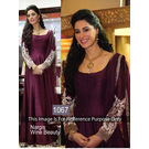 Kmozi Nargis Fakhri Wine Bollywood Anarkali, purple