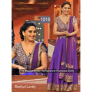 Kmozi Madhuri Lovely Anarkali Dress, purple
