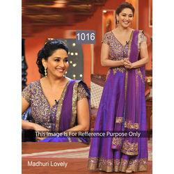 Kmozi Madhuri Lovely Anarkali Dress, purple