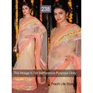 Kmozi Bollywood Prachi Life Style Saree, cream