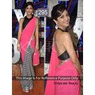 Kmozi Shilpa Star Beauty Replica Saree, multicolor