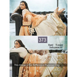 Kmozi Latest Bollywood Designer Lehenga Choli, light orange