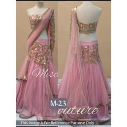 Kmozi Medium Bridal Lehenga Choli, pink