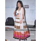 Kmozi Shilpa Latest Designer Anarkali, white