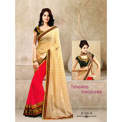 Kmozi New Arrivals Designer Saree, pink