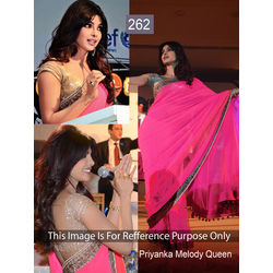 Kmozi Replica Priyanka Melody Queen Saree, pink