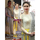 Kmozi Kareena With Lara Dutta Designer Anarkali, white and yellow