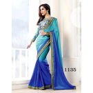 Kmozi Color Saree Buy Online Shopping, blue