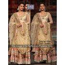 Kmozi Gauhar Khan Gold Queen Bollywood Lehenga, gold
